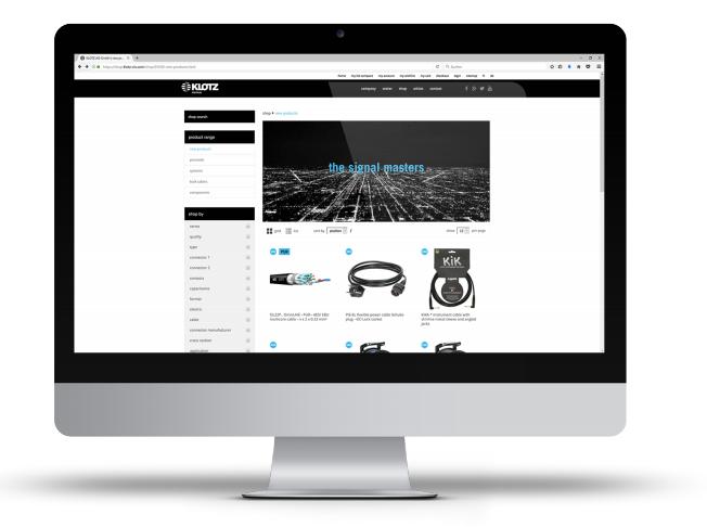 Klotz Referenzprojekt Webshop